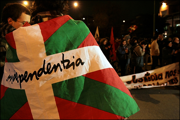 Manifestación nacionalista a favor da independencia do País Vasco/ wikipedia