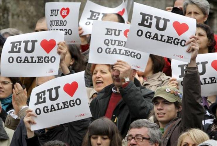 Manifestación de Queremos Galego a prol da lingua