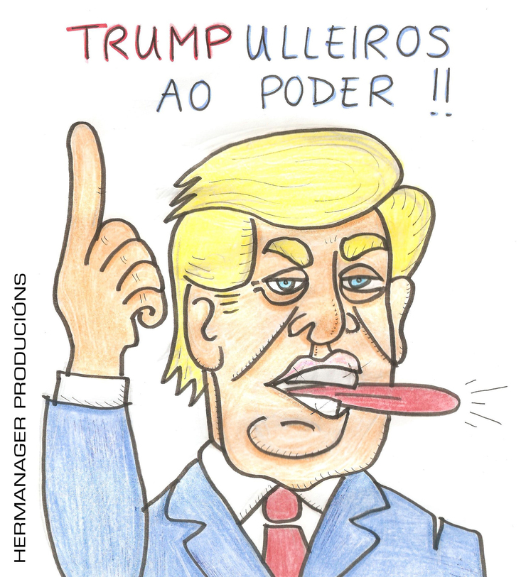 Viñeta de Hermanager sobre Donald Trump