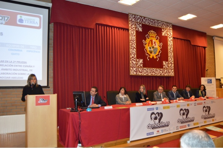 Presentación do campionato D3Mobile 2017 na Escola Politécnica Superior do Campus Terra da Universidade de Santiago / USC.