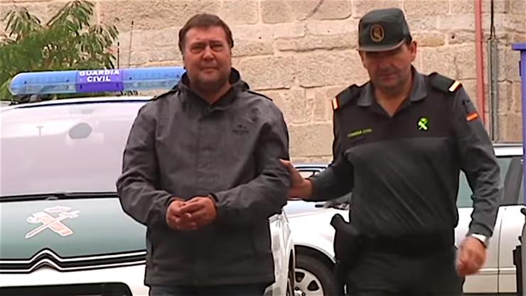 Miguel Martínez, primeiro detido trala vaga de incendios a mediados de outubro de 2017 en Galicia