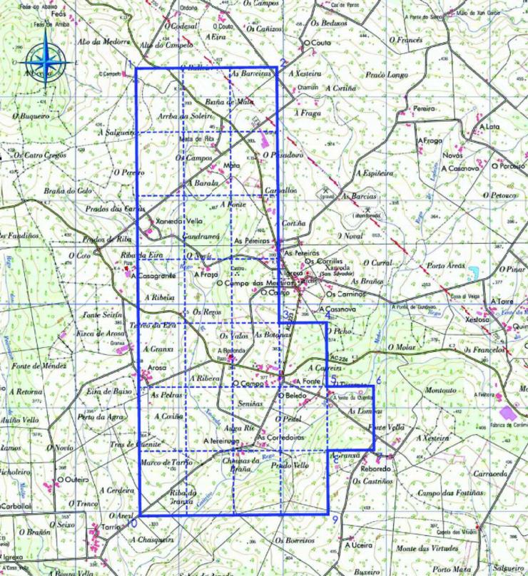 Plano da mina que Emrisa quere explotar en Xanceda (Mesía) segundo figura no Estudio de Impacto Ambiental