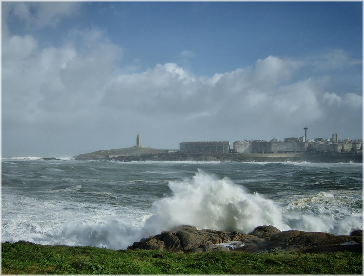 Temporal na Coruña.