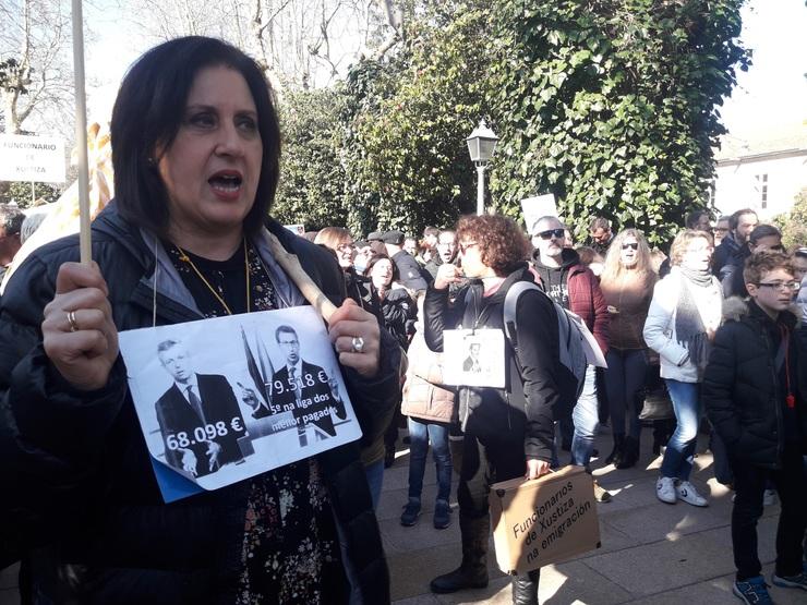 Protesta funcionarios de xustiza