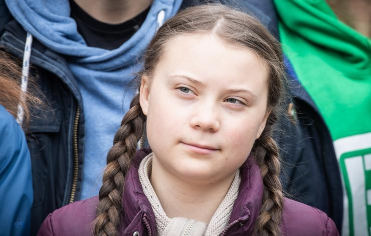 "FILED - 29 March 2019, Berlin: Swedish environmental activist Greta Thunberg participates in a climate demonstration ""Fridays for Future"". Greta Thunberg to hitch a ride to Europe with Australian Youtube influencers. Photo: Michael Kappeler/dpa. Michael Kappeler/dpa - Arquivo / Europa Press"
