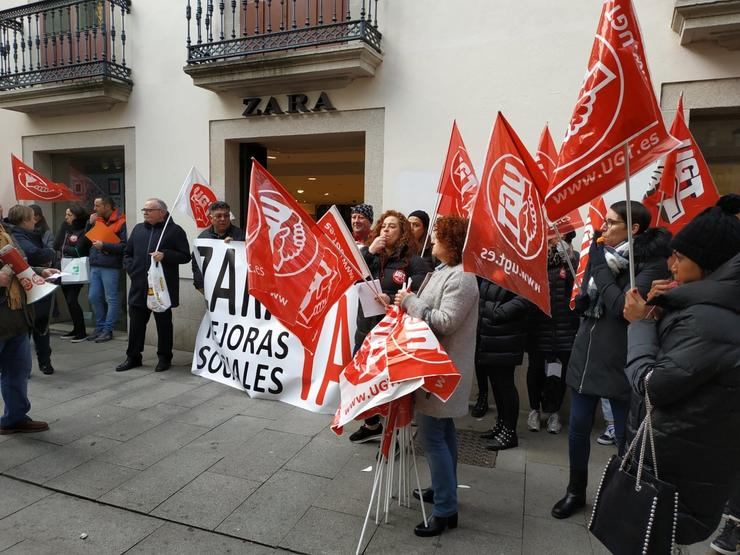Protesta de Zara en Lugo / Europa Press