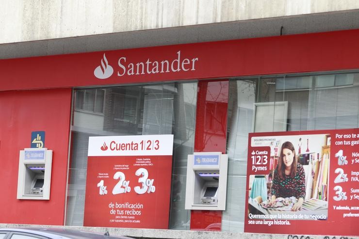 Sucursal do banco Santander. EUROPA PRESS - Arquivo