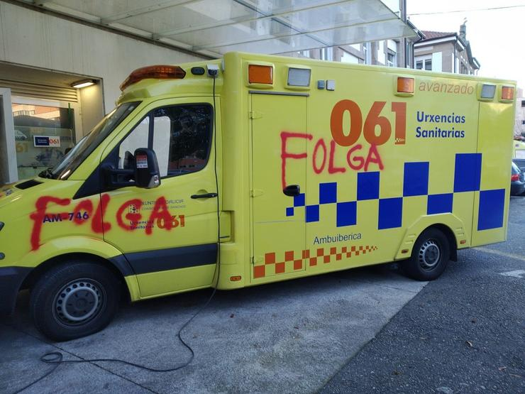 Satse condena os actos vandálicos a ambulancias do 061 e lembra que os enfe. FEGAM / Europa Press