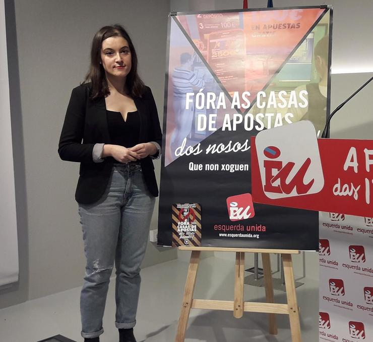 Eva Solla, coordinadora de Esquerda Unida. EUROPA PRESS - Arquivo / Europa Press