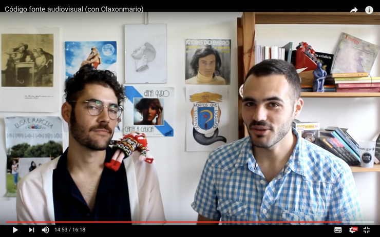 Olaxonmario e Aquel-e, nun vídeo de Youtube