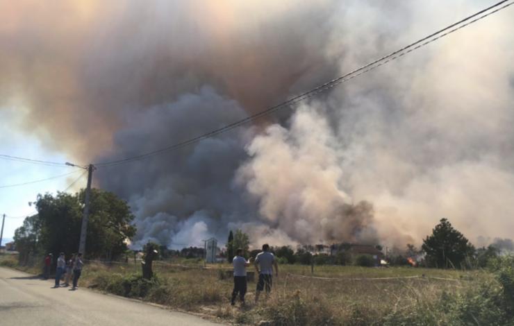 Incendio en Seoane, Monforte