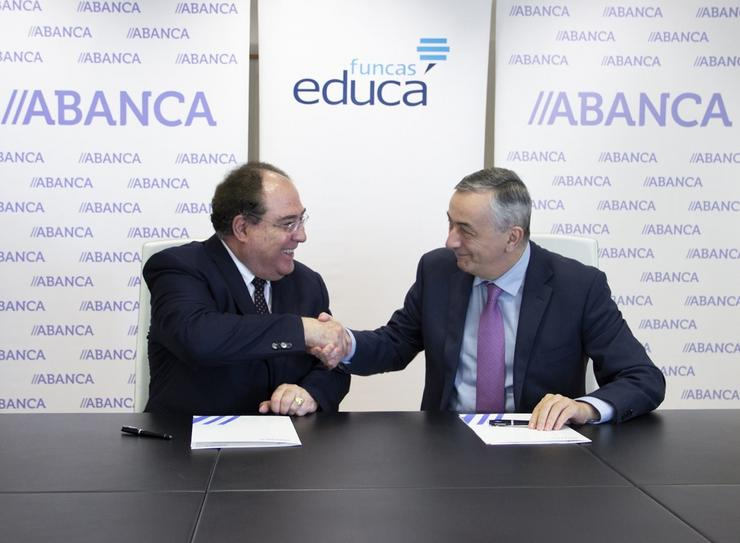 Ocaña e Escotet. ABANCA E FUNCAS - Arquivo / Europa Press