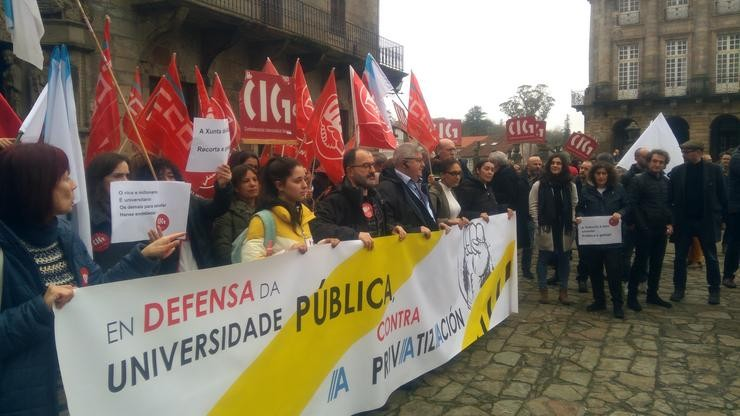 Protesta da Plataforma en Defensa dá Universidade Pública en Santiago / Europa Press