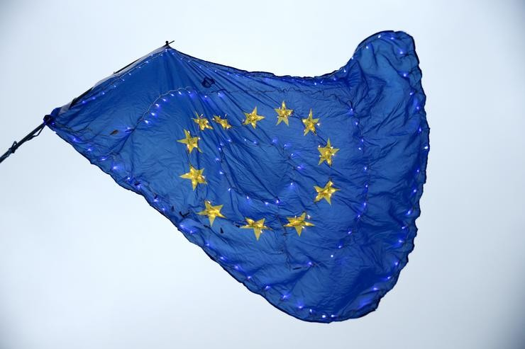 Bandeira da Unión Europea (UE). Hollie Adams/PA Wire/dpa