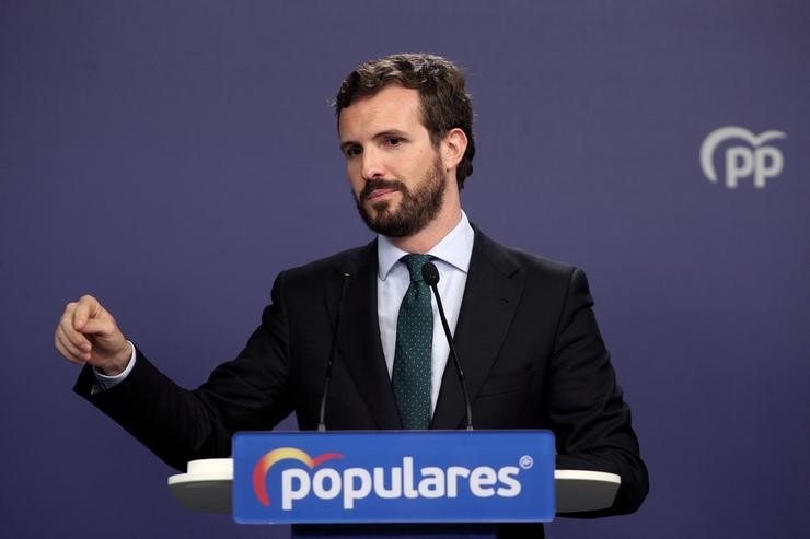 O presidente do PP, Pablo Casado / Europa Press