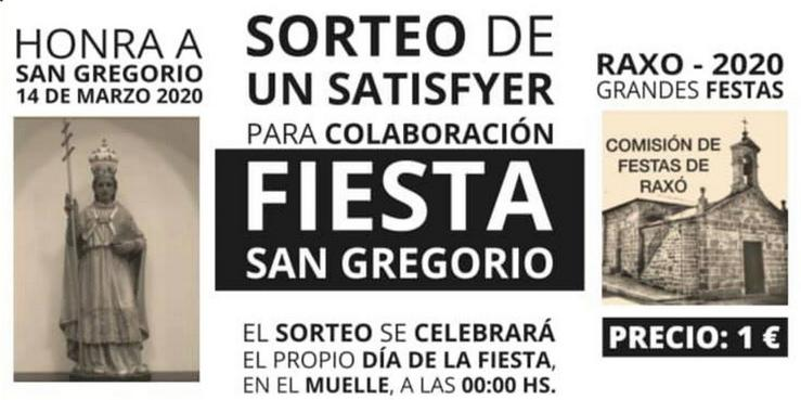 Cartel do sorteo dun Satisfyer para as festas de Raxó.