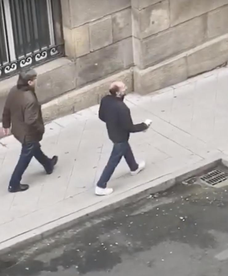 Jácome, de paseo en Ourense en pleno estado de alarma / YouTube