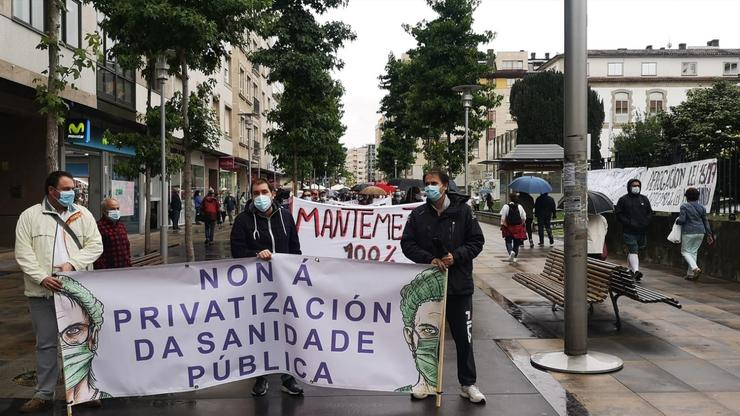 Protesta contra a privatización en sanidade. / Europa Press