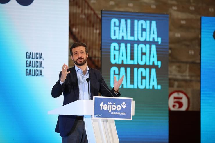 O presidente do Partido Popular, Pablo Casado, Beatriz Ciscar - Europa Press