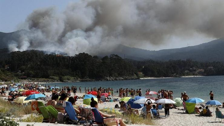 Incendio en Porto do Son / TVG.