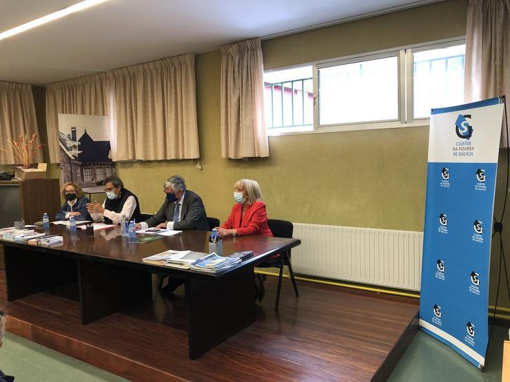 O presidente da CEG, Juan Manuel Vieites, nunha visita á comarca de Valdeorras
