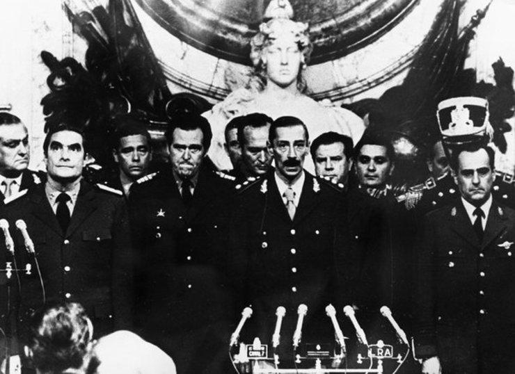 O ditador Videla con toda a xunta militar golpista arxentina
