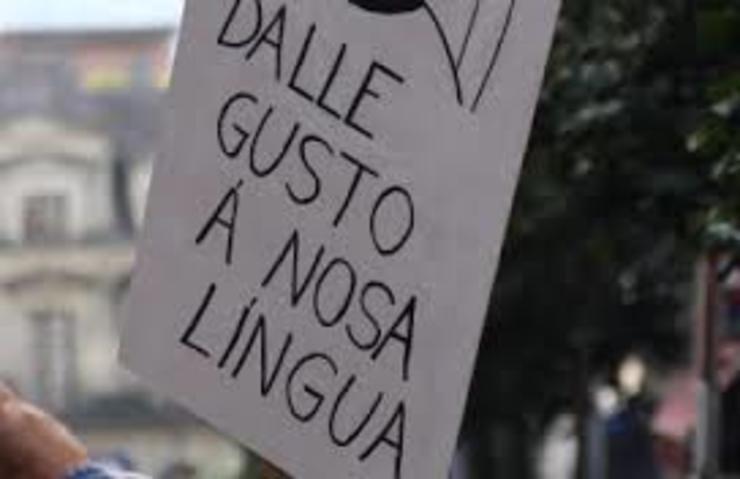 Cartaz a favor da lingua galega