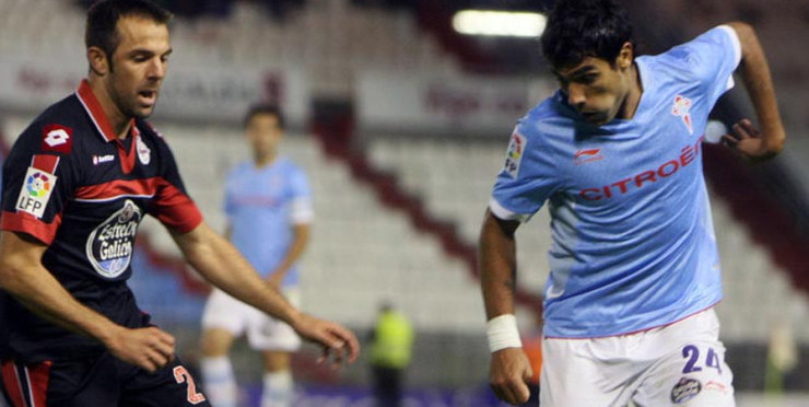 Marchena e Augusto, nun dos derbis do Celta e do Depor