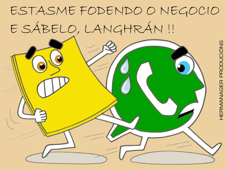 Hermanager - Viñeta de ¿humor? - Post-it - Whatsapp - GC