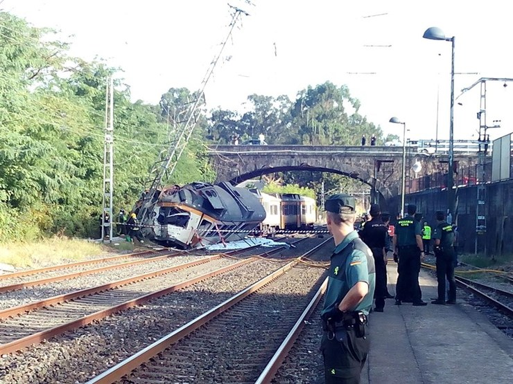 Accidente de tren no Porriño / Europa Press.