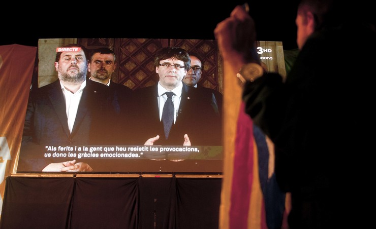 Comparecencia de Puigdemont  no referendo de independencia de Cataluña