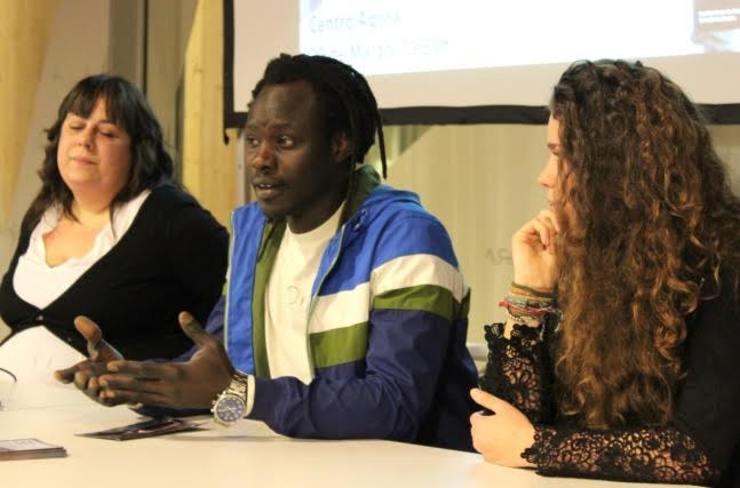 Mussamba no Ágora con Zorahaida (SOS Racismo) e Diana Mata