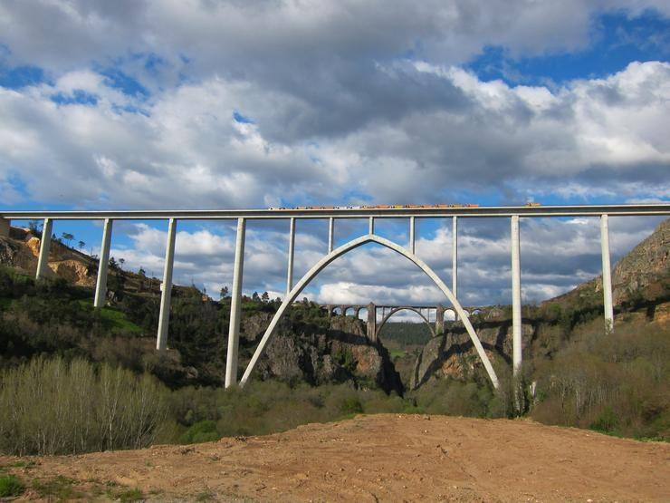 Viaducto do Ulla no AVE a Galicia. Europa Press - Archivo / Europa Press