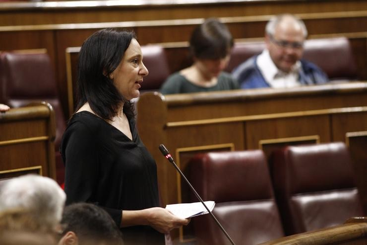 Carolina Bescansa no Congreso. EUROPA PRESS - Arquivo / Europa Press