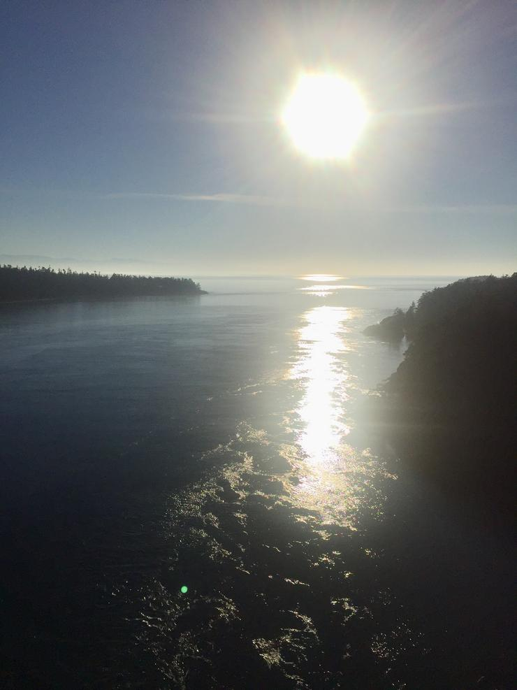 Solpor en Deception Pass