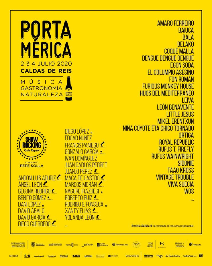 Avance do cartel do Festival PortAmérica. REMITIDO ESMERARTE
