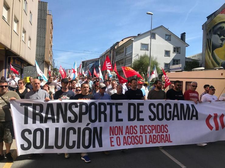 Protesta a favor dos transportistas de Sogama /  CIG - Europa Press