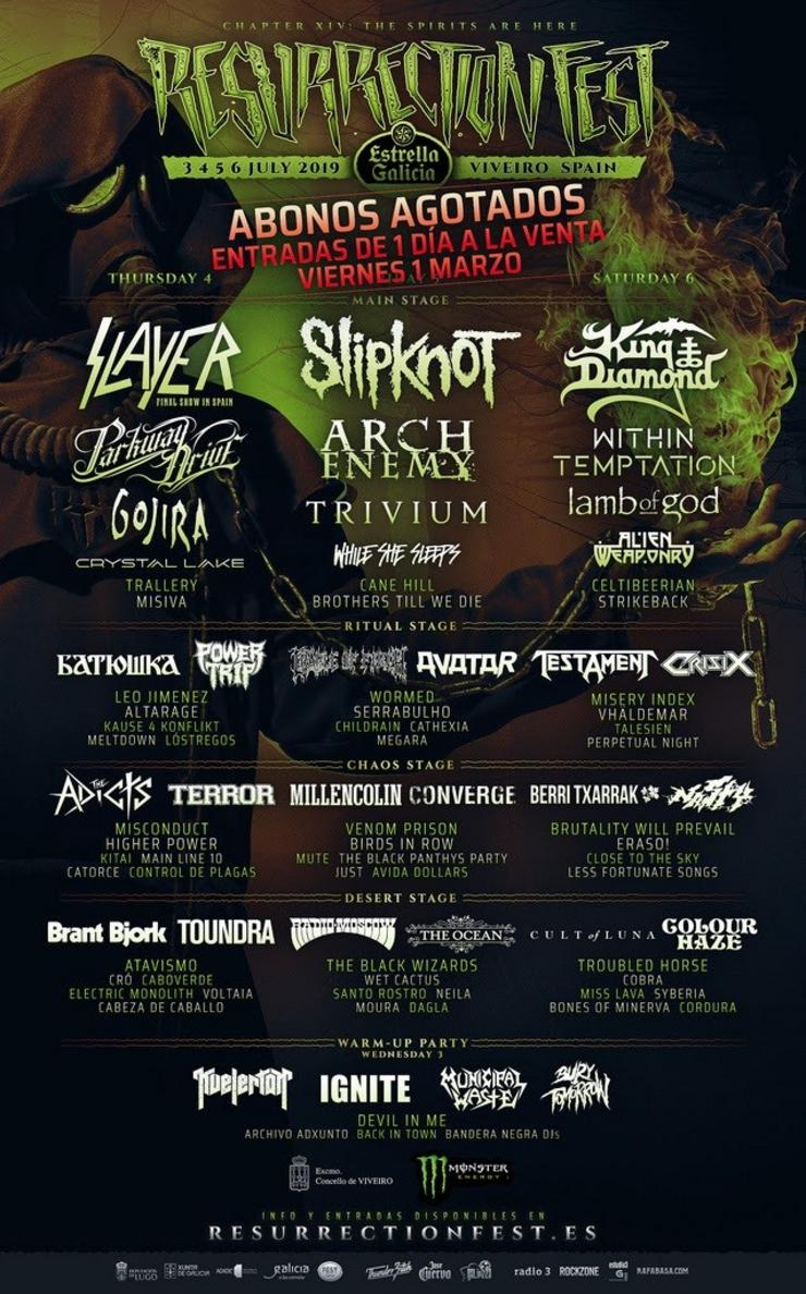 King Diamond, último cabeza de cartel do Resurrection Fest 2019, que desvela ca. REMITIDA - Arquivo / Europa Press