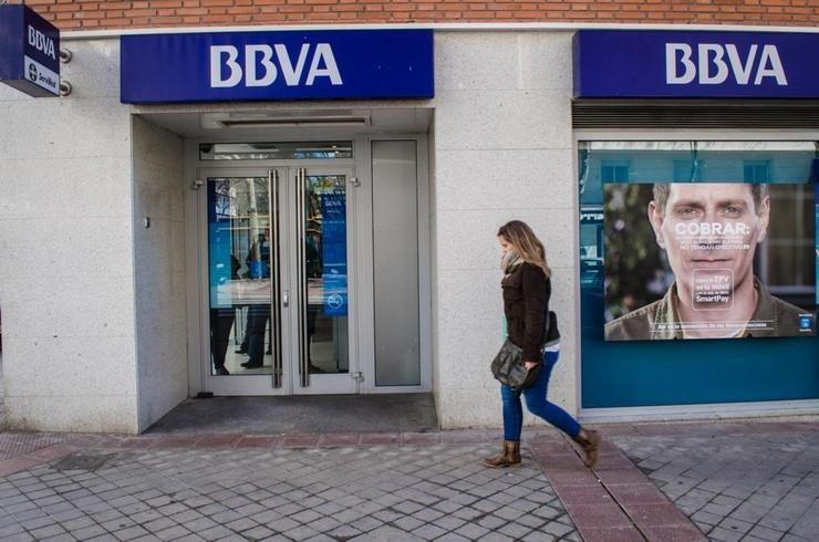 Sucursal do BBVA. EUROPA PRESS - Arquivo