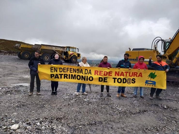 Protesta contra as obras do Parque Eólico do Oribio