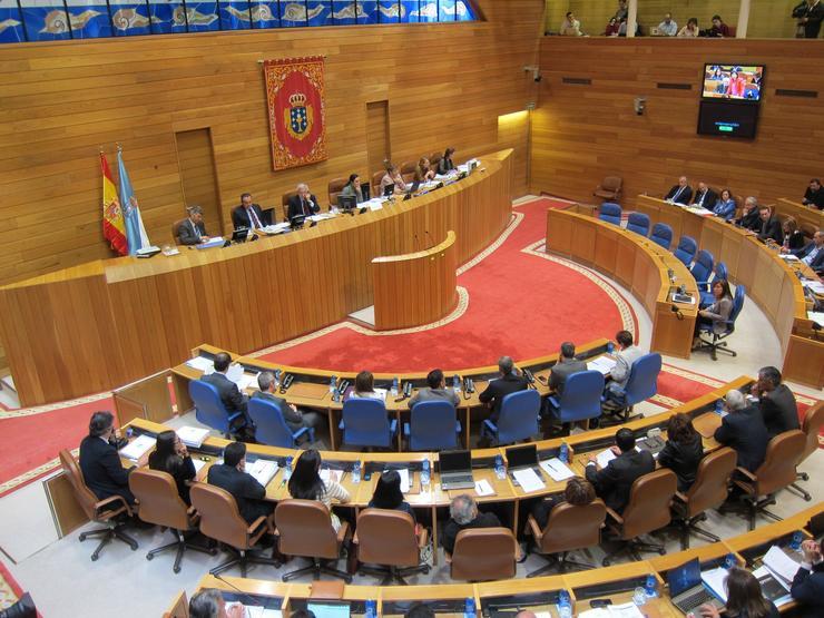 Hemiciclo galego IX Lexislatura. EUROPA PRESS - Arquivo