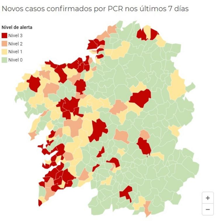 Imaxe do mapa correspondente ao 5 de novembro de 2020. CAPTURA/EUROPA PRESS / Europa Press
