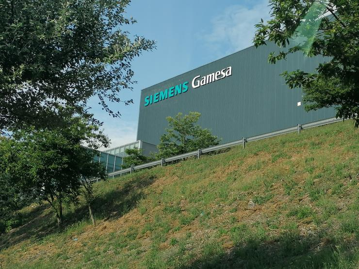 A planta que a multinacional Siemens Gamesa ten nas Somozas (A Coruña) . / Europa Press