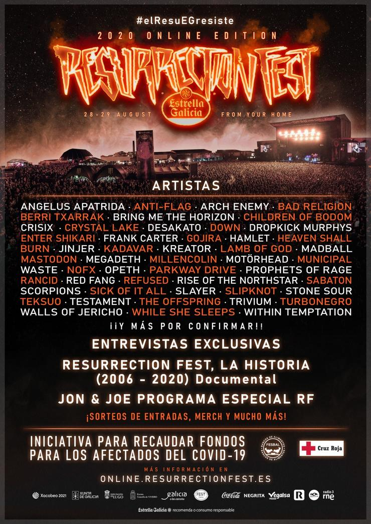 Cartel do Resurrection Fest En liña. RESURRECTION FEST / Europa Press