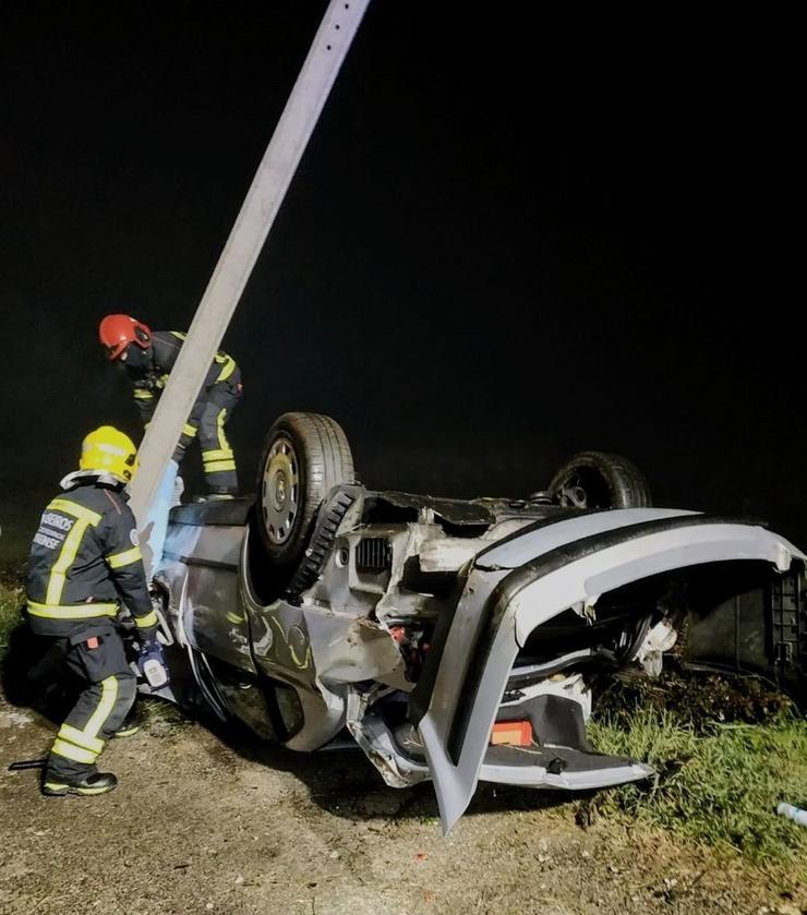 Accidente de tráfico mortal ocorrido na recta de Tamaguelos, en Verín (Ourense).. GARDA CIVIL / Europa Press