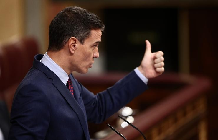 Arquivo - O presidente do Goberno, Pedro Sánchez,no Congreso. EUROPA PRESS/E. Parra. POOL - Europa Press / Europa Press